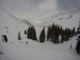 View looking toward Twin Lakes/Mono Village