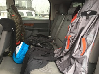Drying out my gear in the truck