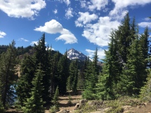 Trail view with North Sister in the background